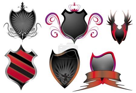 Set of shield