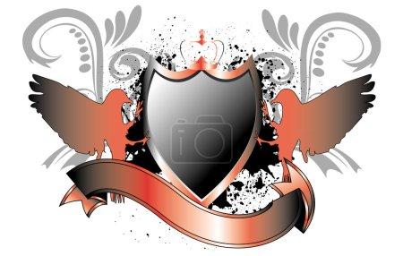 Shield in metallic