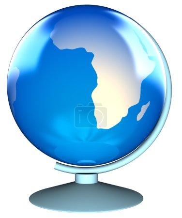 Photo pour Outil de navigation de globe bleu et blanc - image libre de droit