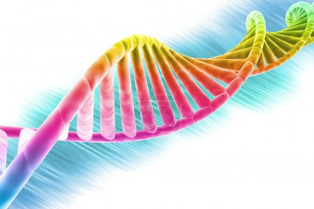 Photo for DNA strand modern design, bright and colorful - Royalty Free Image
