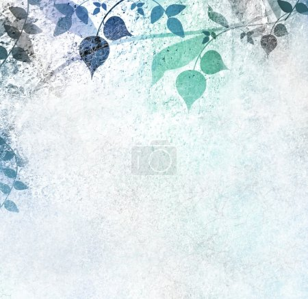 Photo for Romantic blue floral vintage background - Royalty Free Image