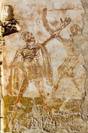 Fresco in Rocamadour.