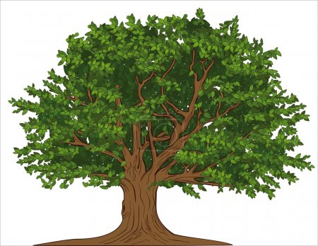 Illustration for Big tree - Royalty Free Image