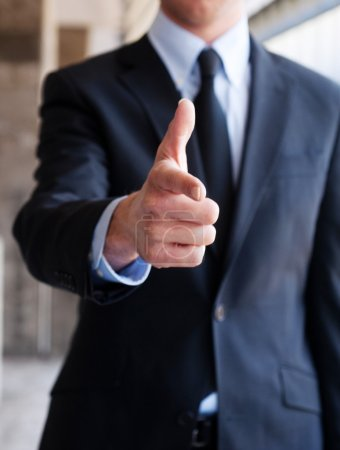 Photo for Business man pointing with a hand gesture - Royalty Free Image