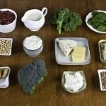 Food sources of calcium (as per USDA nutrient data...