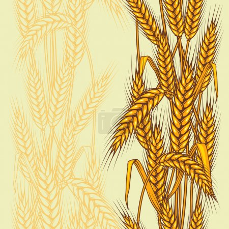 Illustration for Abstract textured wheat field. Seamless pattern. Vector. - Royalty Free Image