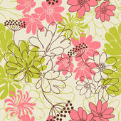 "Постер, картина, фотообои ""Vector background with hand drawn flowers. (Seamless Pattern)"""