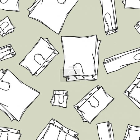 Illustration for Seamless bags pattern. vector - Royalty Free Image