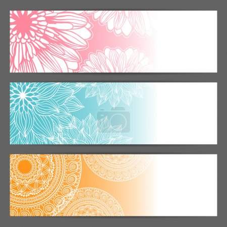 Illustration pour Bannière horizontale, en-têtes . - image libre de droit