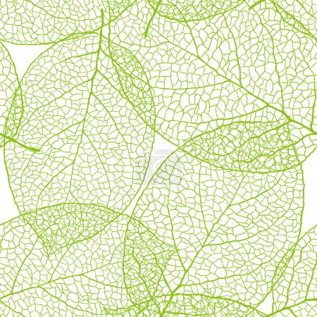 Illustration for Fresh green leaves background - vector illustration - Royalty Free Image