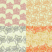 Set of four seamless abstract hand-drawn background surface tex
