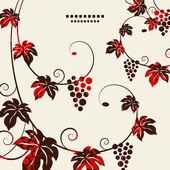 Grape vines background Vector illustration