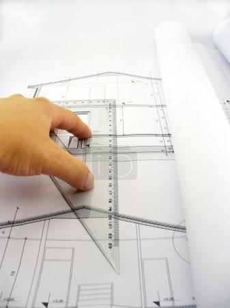 Measuring on blueprints