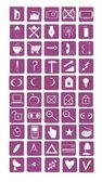 Vector image of fifty icons