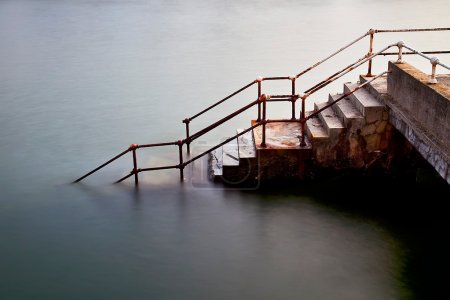Photo for Submerged in the water stairs - Royalty Free Image