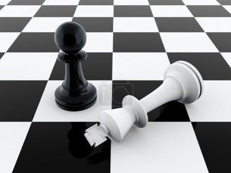 Pawn wins