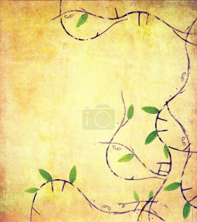 Photo for Lovely background image with floral elements - Royalty Free Image