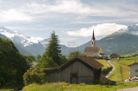 Church in alpine landscape