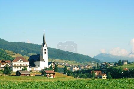 Church in alpine landscape