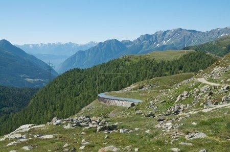 Alpine landscape in Val Poschiavo, Switzerland