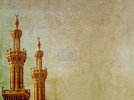 Earthy background image islamic minarets