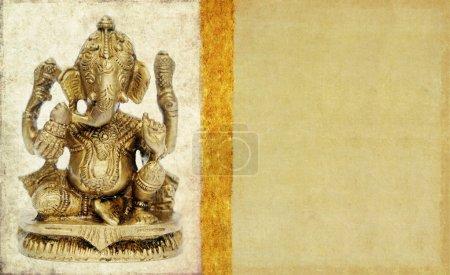 Photo for Lovely background image with figure of hindu deity ganesha. very useful design element. - Royalty Free Image