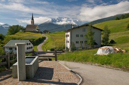 Photo pour Magnifique paysage alpin (salouf, Suisse) - image libre de droit
