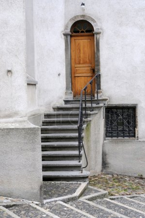 Architectural features of an old swiss town