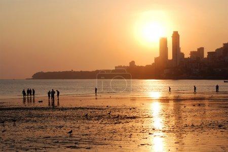 Chowpatty Beach - South Mumbai, the North end of t...