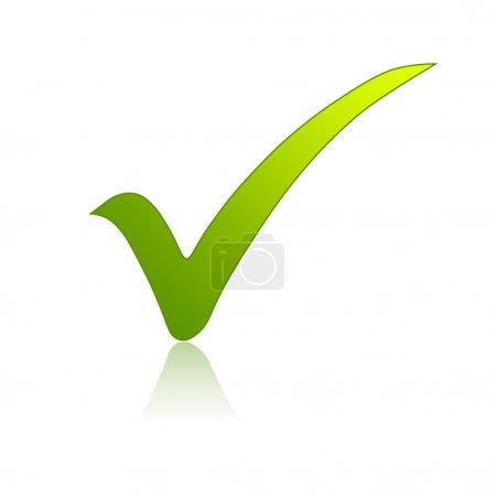 Photo pour Illustration de coche verte - image libre de droit