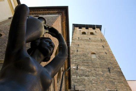 Bronze statue in Padova, Italy.