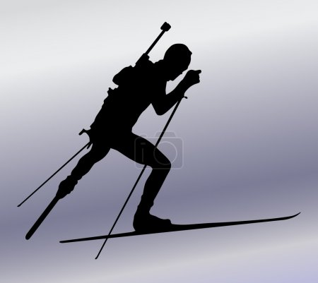 Biathlon sportman silhouette
