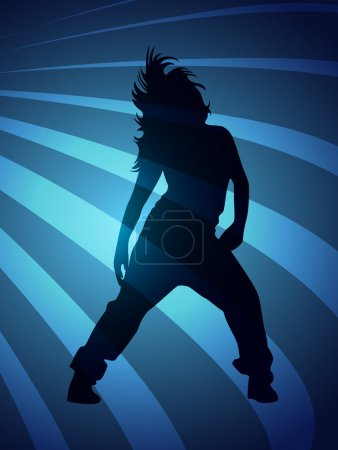 Vector silhouette dancers