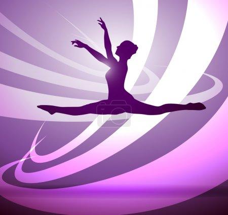 Illustration pour Silhouettes gymnastique - image libre de droit