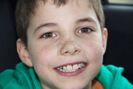 Closeup of cute young teen boy
