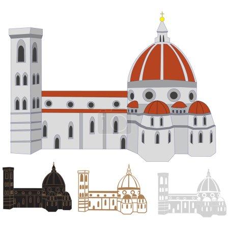 Vector image of Santa Maria del Fiore, Florence