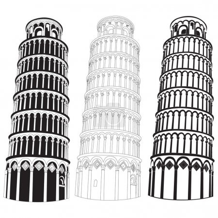 Vector image of Pisa tower