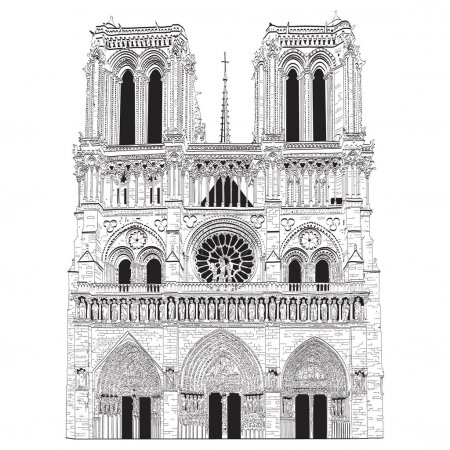 Vector image of Notre Dame de Paris