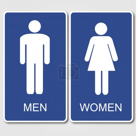 Illustration for Restroom Sign Illustration - Royalty Free Image