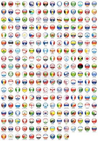 Photo pour Le tour de tous les drapeaux des pays - image libre de droit