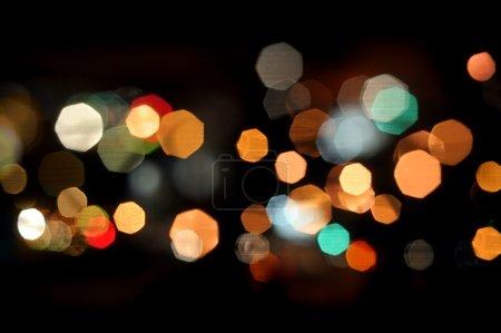 Photo pour Photo de bokeh lumières sur fond noir - image libre de droit