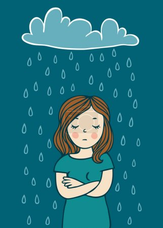 Illustration for Girl in a bad mood - Royalty Free Image