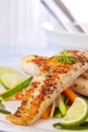 Healthy fish pangasius meal