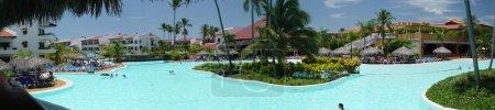 Photo pour Côté piscine, tourné en République dominicaine - image libre de droit