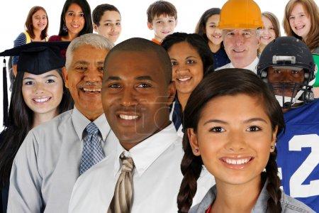 Photo pour De toutes les différentes races et professions - image libre de droit