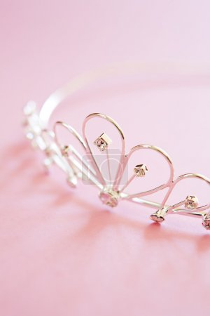 Wedding Tiara On Bridal Pink Background