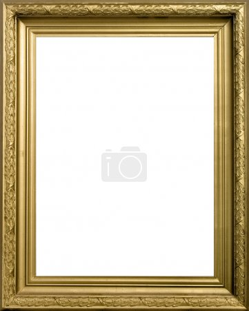 Photo for Old modern gold frame vertical - Royalty Free Image