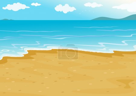 Illustration for Tropical beach on a white background - Royalty Free Image