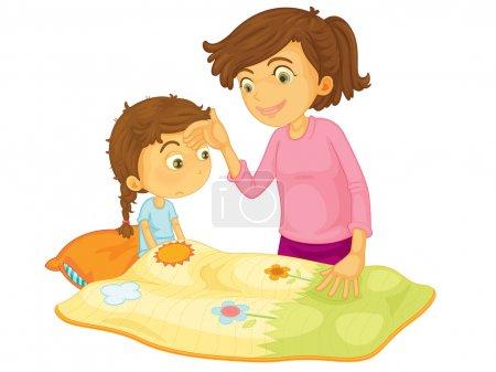 Illustration for Child illustration on a white background - Royalty Free Image