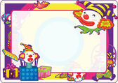 Illustration of colourful photo frame